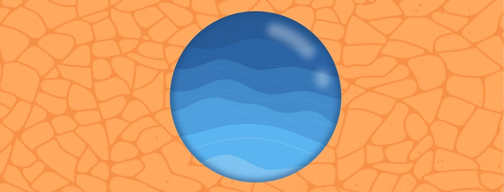 A circle with water surrounded by dry cracking