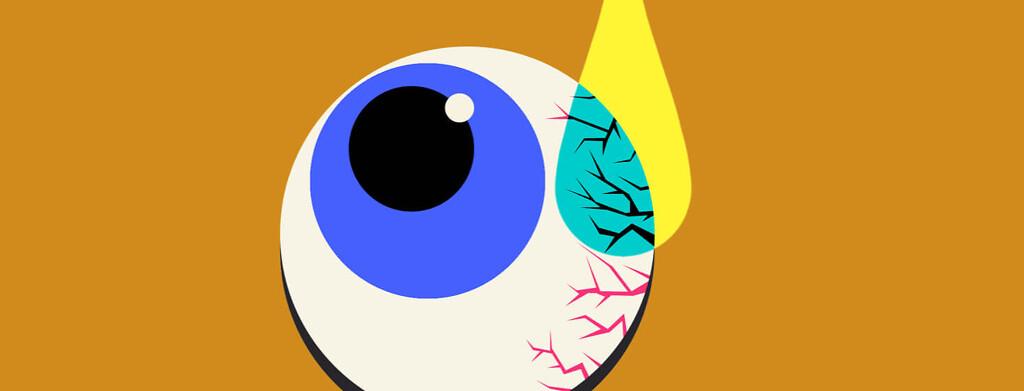 eyeball with drop of liquid dripping into it eye, vision, eye drops,